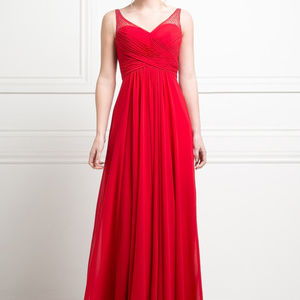 Red Sweetheart Prom Long Dress